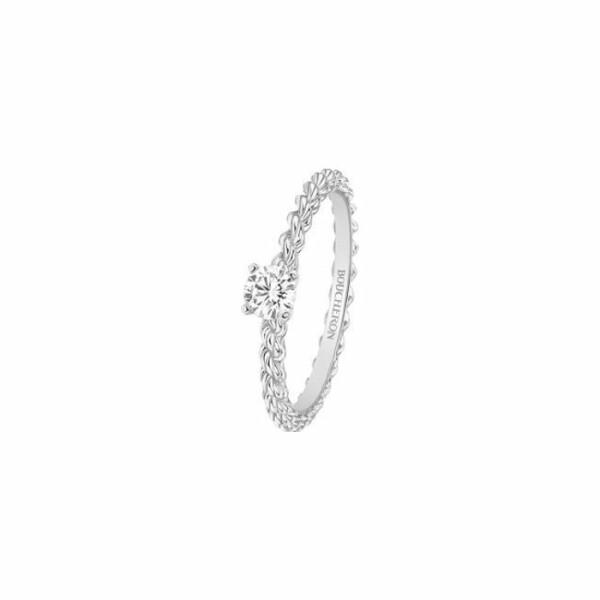 Solitaire Boucheron Serpent Bohème en Or blanc et Diamant