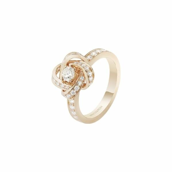 Bague Boucheron Pivoine en Or rose et Diamant