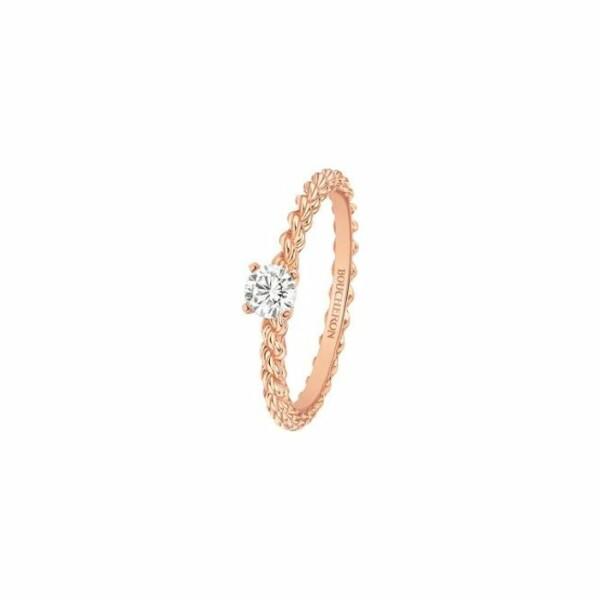 Solitaire Boucheron Serpent Bohème en Or rose et Diamant