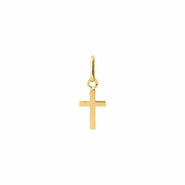 Médaille de baptême Lucas Lucor croix en or jaune