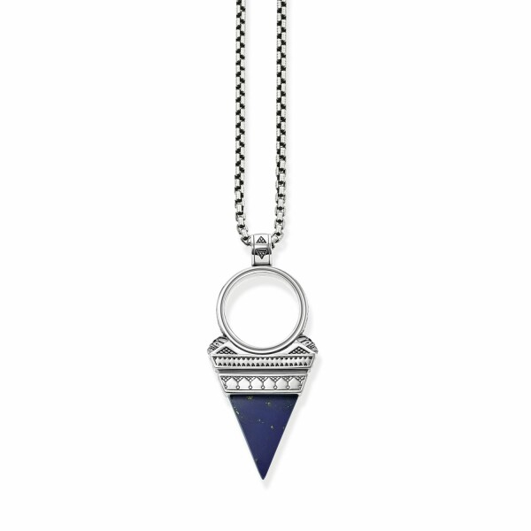 Chaîne Thomas Sabo Rebel at heart Triangle bleu en argent L (45-55cm)