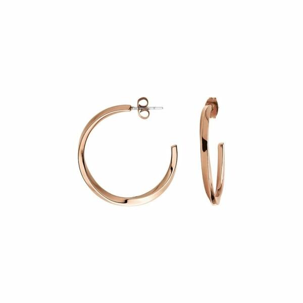 Boucles d'oreilles créoles Calvin Klein Exclusive en plaqué or rose
