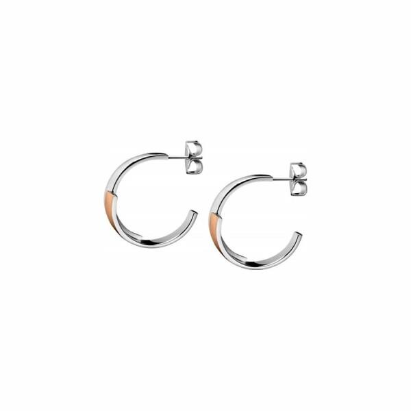Boucles d'oreilles créoles Calvin Klein Intense en acier PVD