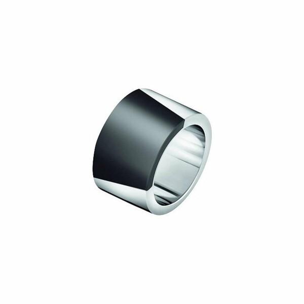 Bague Calvin Klein Distinct en acier et plastique, taille 54-55