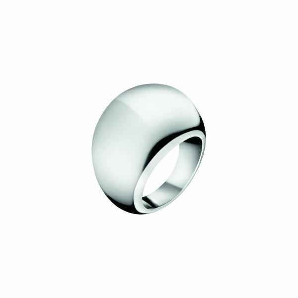 Bague Calvin Klein Ellipse en acier, taille 54-55