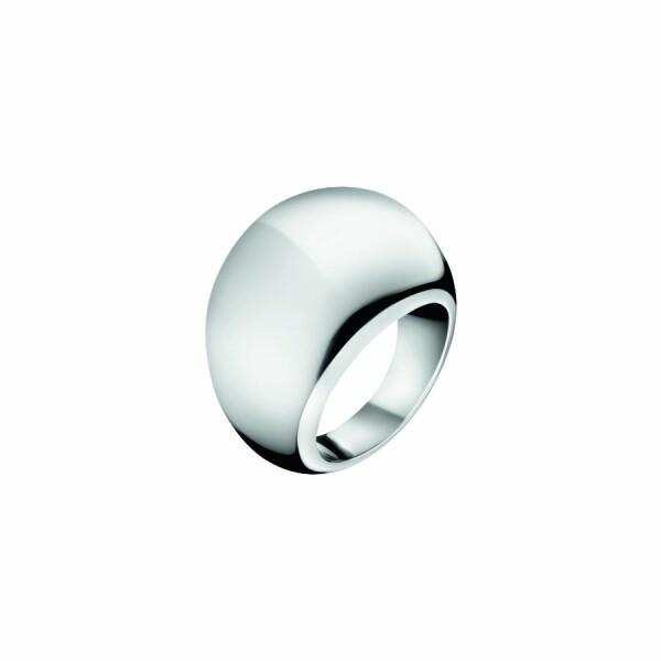 Bague Calvin Klein Ellipse en acier, taille 57-58