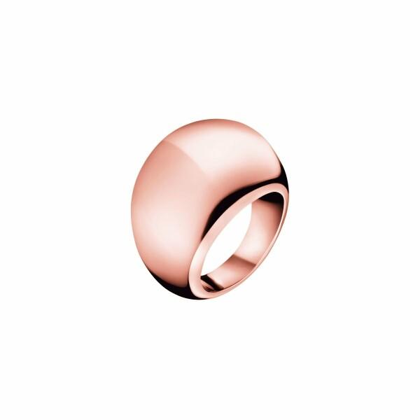 Bague Calvin Klein Ellipse en plaqué or rose, taille 54-55