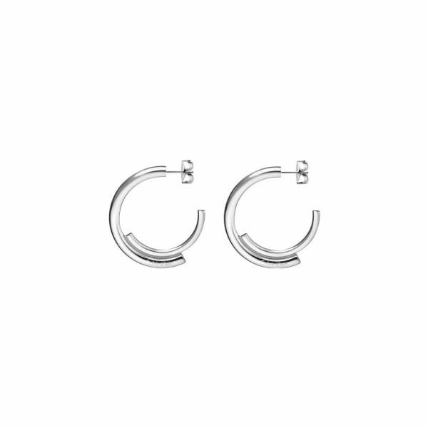 Boucles d'oreilles créoles Calvin Klein Scent en acier