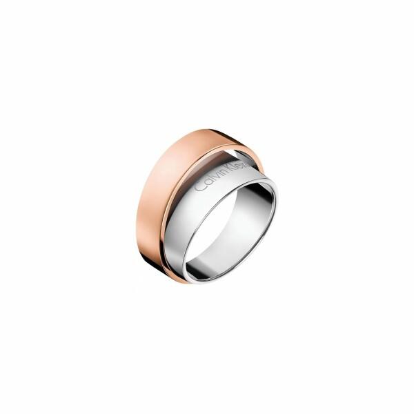 Bague Calvin Klein Unite en acier PVD, taille 57-58
