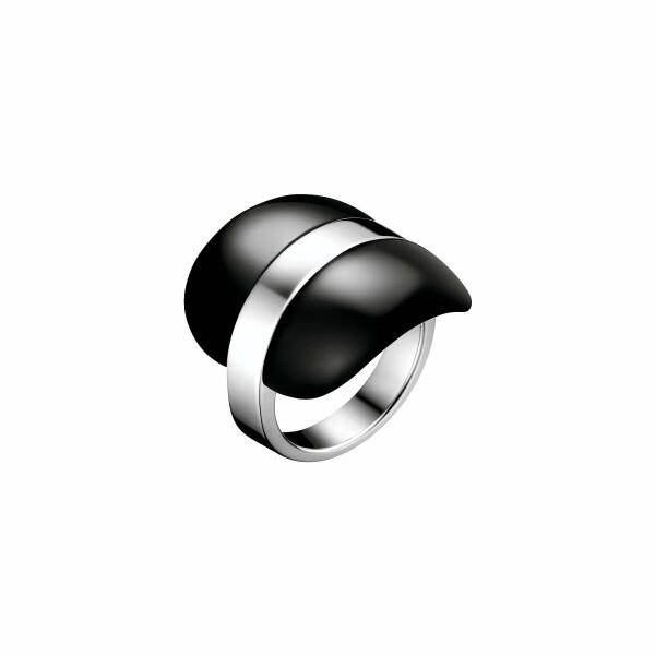 Bague Calvin Klein Treasure en acier et verre, taille 51-52