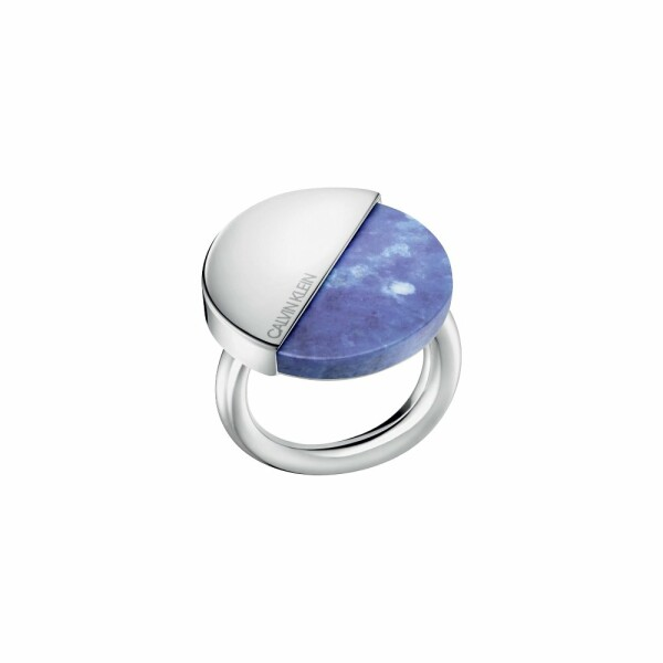 Bague Calvin Klein Spicy en acier et Lapis Lazuli, taille 57-58