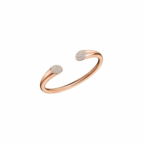 Bracelet Calvin Klein Brilliant en plaqué or rose et cristal, taille S