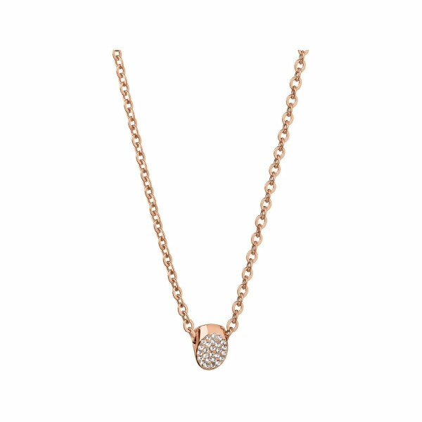 Collier Calvin Klein Brilliant en plaqué or rose et cristal