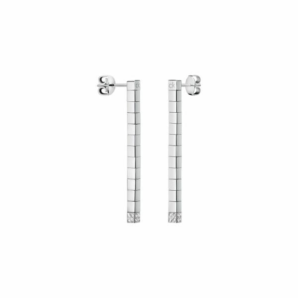 Boucles d'oreilles Calvin Klein Tune en acier et cristal