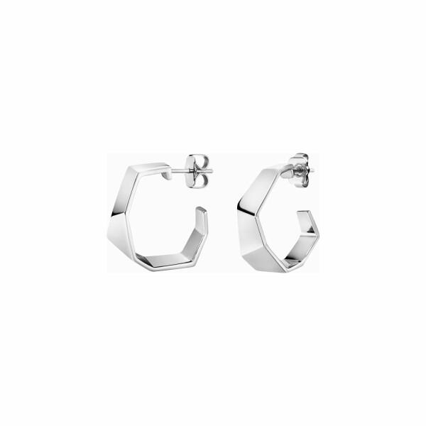 Boucles d'oreilles créoles Calvin Klein en laiton
