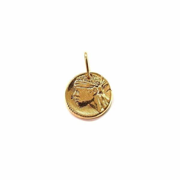 Médaille Corse Mariotti Kallisté Mini en or jaune, 15mm