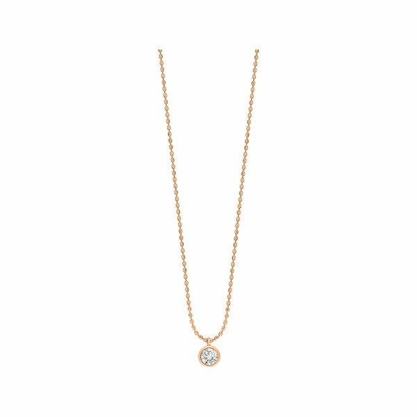 Collier GINETTE NY LONELY DIAMONDS en or rose et diamant