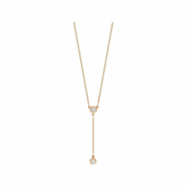 Collier GINETTE NY LONELY DIAMONDS en or blanc et diamants