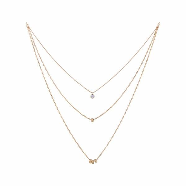 Collier GINETTE NY LONELY DIAMONDS en or rose et diamant