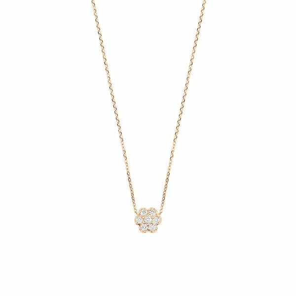 Collier GINETTE NY MINI DIAMOND LOTUS en or rose et diamants