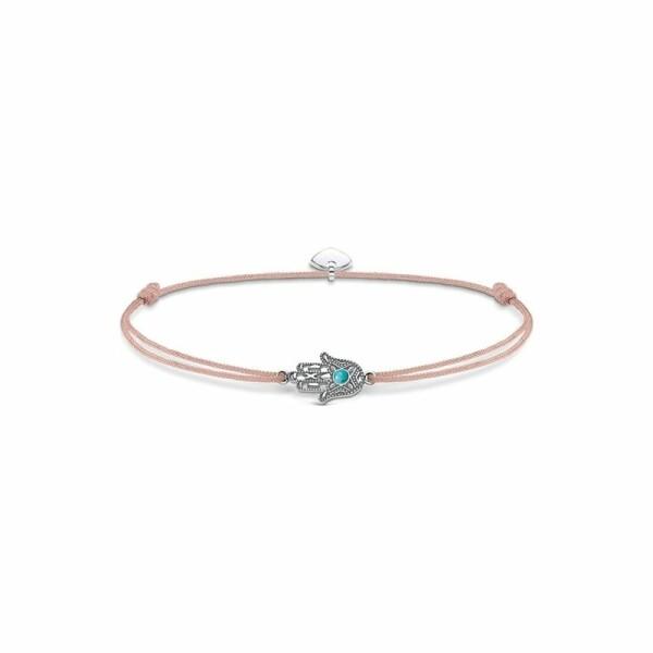 Bracelet Thomas Sabo Little Secret main de Fatima en argent et turquoise