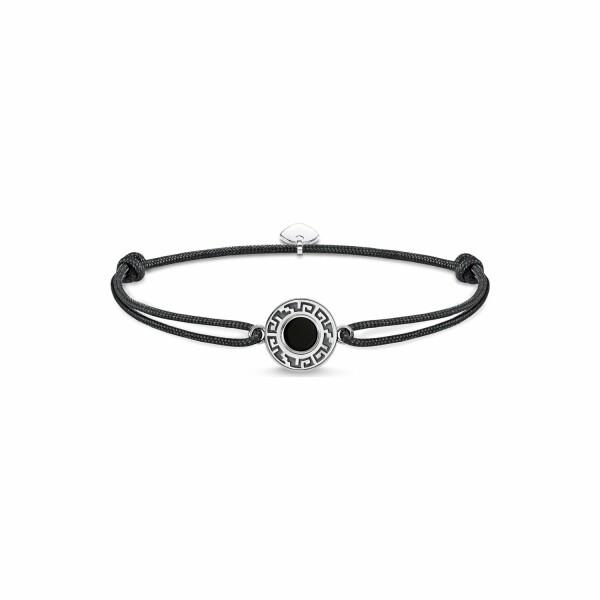 Bracelet Thomas Sabo Little Secret ornement noir en argent et agate