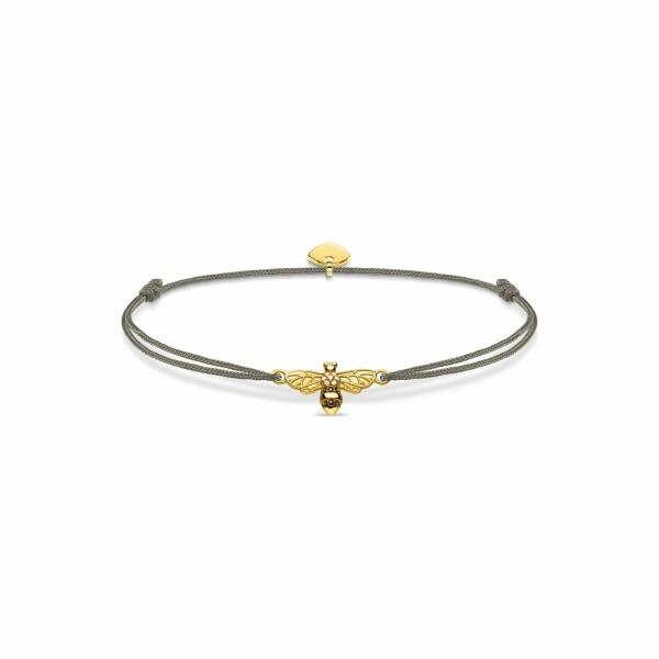 Bracelet Thomas Sabo Little Secret abeille en plaqué or jaune et oxyde de zirconium