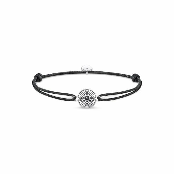 Bracelet Thomas Sabo Little Secret croix Royalty en argent, oxyde de zirconium et onyx