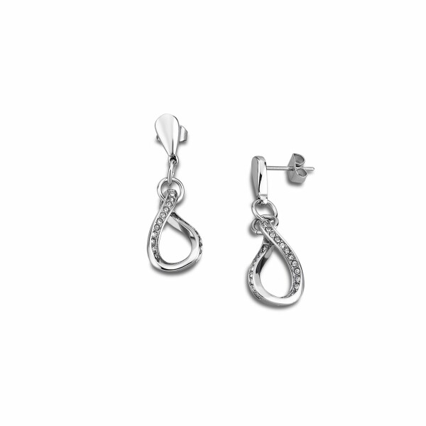 Boucles d'oreilles Lotus Style Bliss en acier et oxydes de zirconium