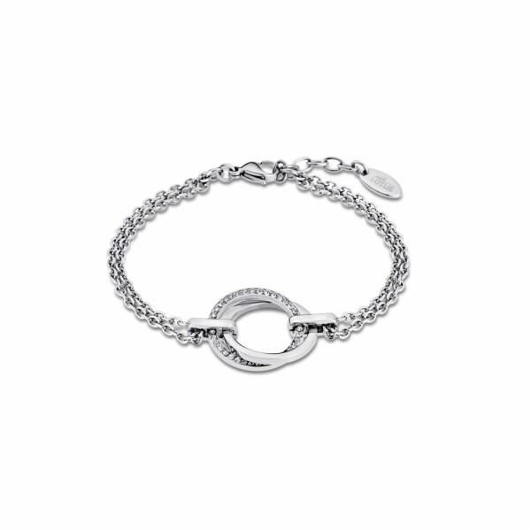 Bracelet Lotus Style Urban Woman Cercle en acier et oxydes de zirconium