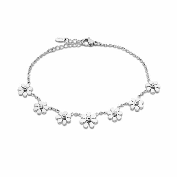 Bracelet Lotus Style Rainbow Fleurs en acier