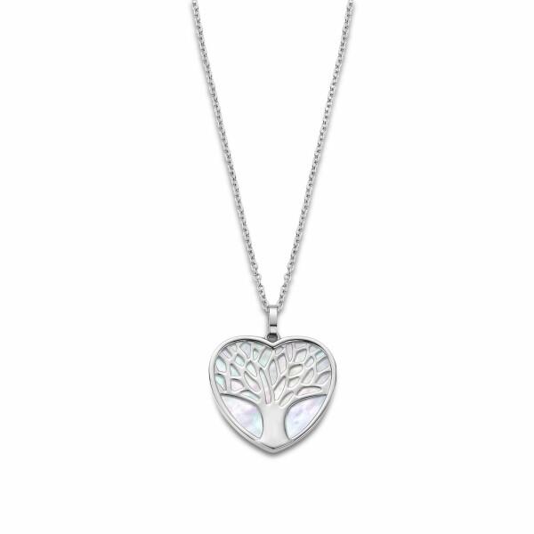 Collier Lotus Style Woman's heart Arbre en acier