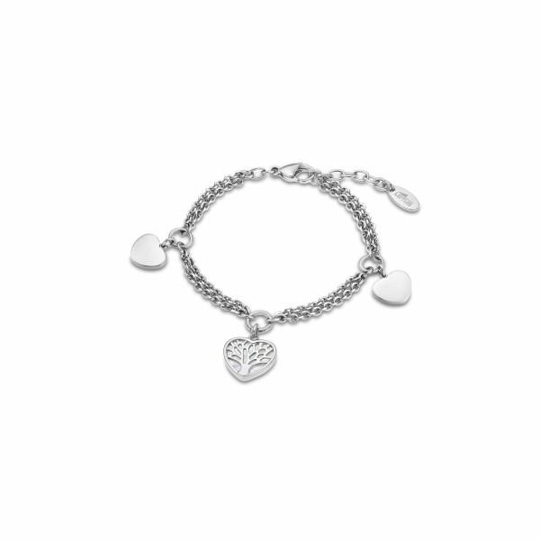Bracelet Lotus Style Woman's heart Arbre en acier