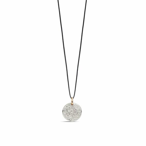 Pendentif sans chaîne Pomellato Sabbia en or rose rhodié et diamants