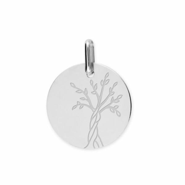 Médaille Lucas Lucor Arbre de vie en or blanc, 16mm