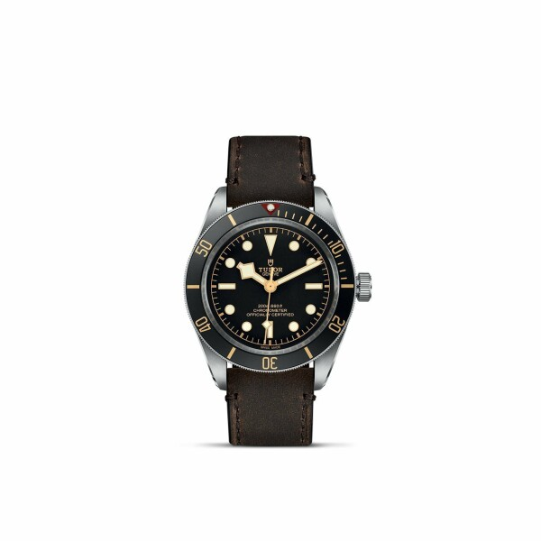 Montre TUDOR Black Bay Fifty-Eight boîtier en acier, 39mm, bracelet en cuir brun