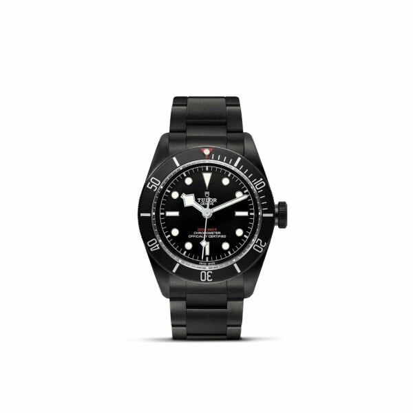 Montre TUDOR Black Bay Dark boîtier en acier traité pvd, 41mm, bracelet en acier