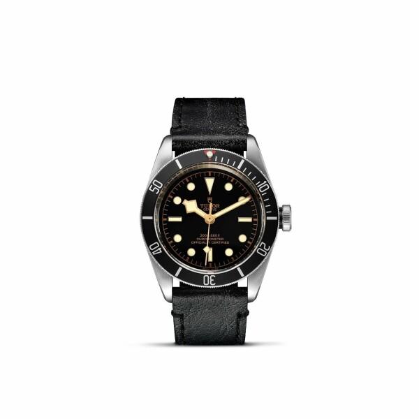 Montre TUDOR Black Bay boîtier en acier, 41mm, bracelet en cuir vieilli
