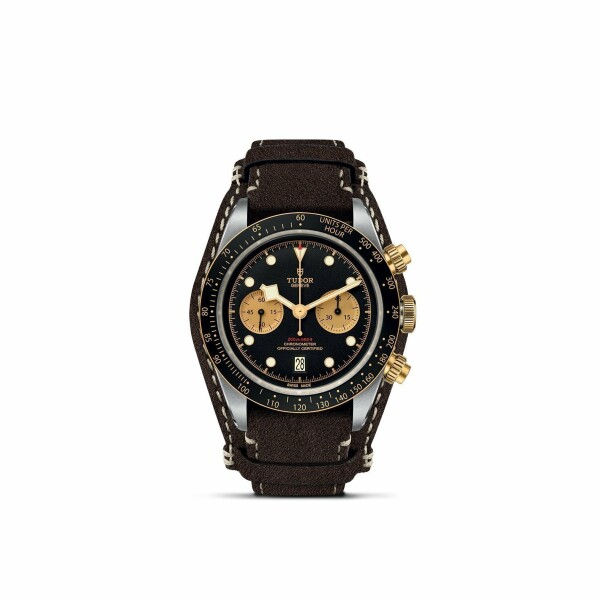 Montre TUDOR Black Bay Chrono S&G boîtier en acier, 41mm, bracelet en cuir