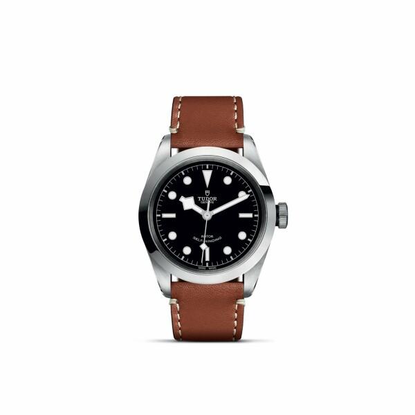 Montre TUDOR Black Bay 41 boîtier en acier, 41mm, bracelet en cuir brun