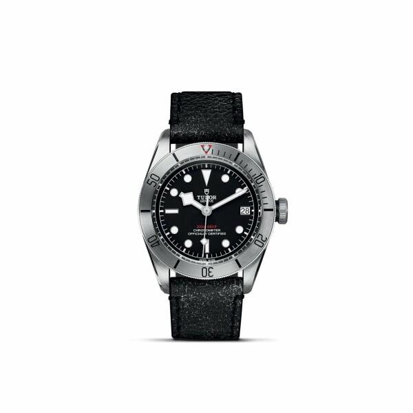 Montre TUDOR Black Bay Steel boîtier en acier, 41mm, bracelet en cuir vieilli