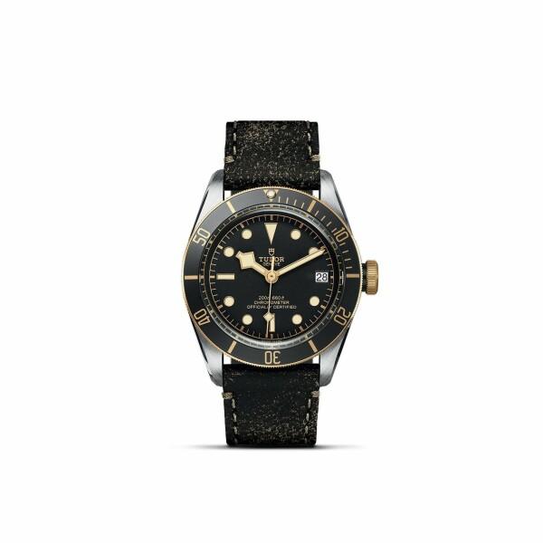 Montre TUDOR Black Bay S&G boîtier en acier, 41mm, bracelet en cuir vieilli