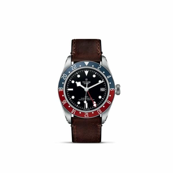 Montre TUDOR Black Bay GMT boîtier en acier, 41mm, bracelet en cuir brun terra di siena