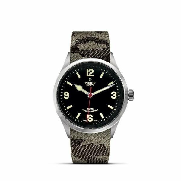 Montre TUDOR Heritage Ranger boîtier en acier, 41mm, bracelet en tissu camouflage