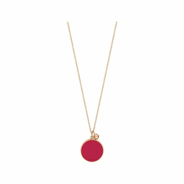 Collier GINETTE NY MARIA en or rose et corail