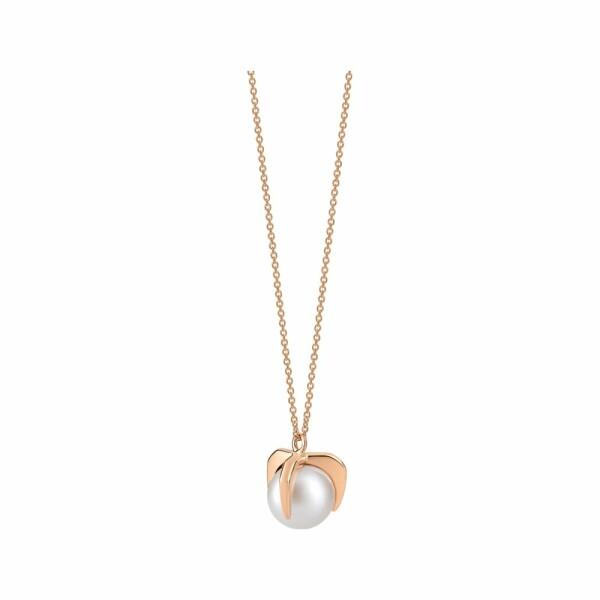 Collier GINETTE NY MARIA en or rose et perle de culture d'eau douce