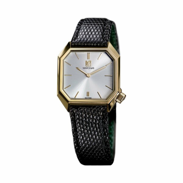 Montre March L.A.B Mansart Electric Continental - Bracelet lézard noir