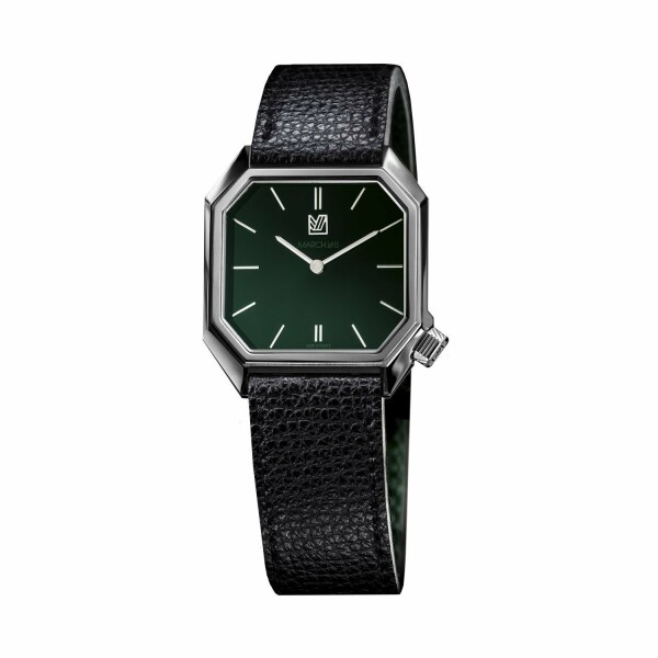 Montre March L.A.B Mansart Electric Grall - Cuir veau grainé noir