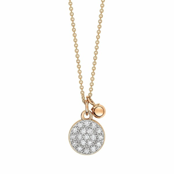 Collier GINETTE NY MINI EVER en or rose et diamant