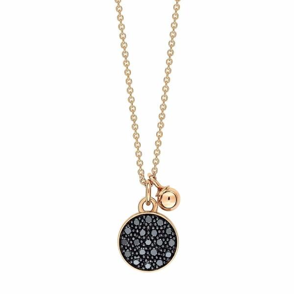 Collier GINETTE NY MINI EVER en or rose et diamants noirs